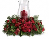 Holiday Glow Centerpiece in Wynne AR, Backstreet Florist & Gifts