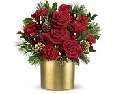 Milwaukee Flowers - Teleflora's Holiday Elegance - Bank Of Memories & Flowers