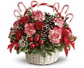 Candy Cane Christmas in Festus MO, Judy's Flower Basket