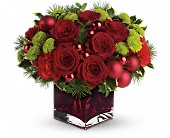 Teleflora's Merry & Bright in Holladay UT, Brown Floral