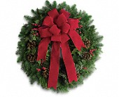 Classic Holiday Wreath in Metairie LA, Villere's Florist