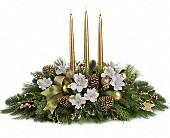 Royal Christmas Centerpiece in Delray Beach FL, Crystal Rose Florist
