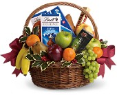 Fruits and Sweets Christmas Basket in Wynne AR, Backstreet Florist & Gifts
