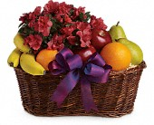 Fruits and Blooms Basket in Lakeville MA, Heritage Flowers & Balloons