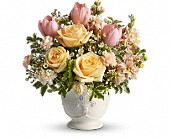 Teleflora's Peaches and Dreams in Gastonia NC, Fine And Fancy Flowers
