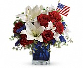 America the Beautiful by Teleflora in Mount Carroll IL, Flower Fan-A-See