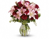 Lavish Love Bouquet with Long Stemmed Red Roses in Columbiana OH, Blossoms In the Village