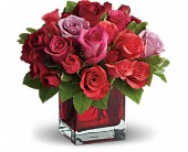 Madly in Love Bouquet with Red Roses by Teleflora in Elkland PA, The Rainbow Rose