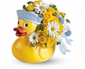 Teleflora's Ducky Delight - Boy in Norwalk CT, Bruce's Flowers & Greenhouses