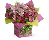 Teleflora's Pretty Pink Present in Mississauga ON, Flowers By Uniquely Yours
