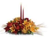 Graceful Glow Centerpiece in Mount Morris MI, June's Floral Company & Fruit Bouquets