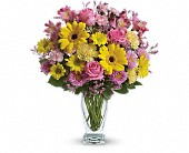 Teleflora's Dazzling Day Bouquet in Prior Lake & Minneapolis MN, Stems and Vines of Prior Lake