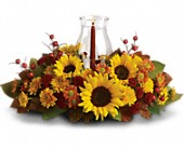 Sunflower Centerpiece in Edmonton AB, Petals For Less Ltd.