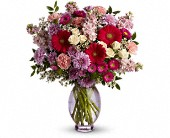 Teleflora's Perfectly Pleasing Pinks in Modesto CA, Rose Garden Florist