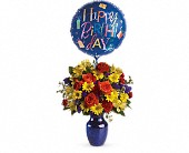 Fly Away Birthday Bouquet in Manteca CA, Rose Cart of Manteca