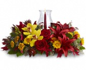 Glow of Gratitude Centerpiece in Kansas City KS, Michael's Heritage Florist