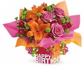 Teleflora's Rosy Birthday Present in San Leandro CA, East Bay Flowers