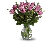 Lavender Wishes - Dozen Premium Lavender Roses Local and Nationwide Guaranteed Delivery - GoFlorist.com