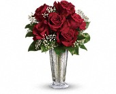 Teleflora's Kiss of the Rose in Mount Morris MI, June's Floral Company & Fruit Bouquets