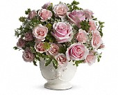 Teleflora's Parisian Pinks with Roses in Burnaby BC, Lotus Flower & Terra Plants