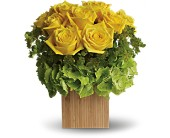 Teleflora's Box of Sunshine in Show Low AZ, The Morning Rose