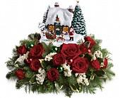 Thomas Kinkade Santa's Workshop by Teleflora in Branchburg, New Jersey, Branchburg Florist