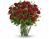 Loganville Flowers - My Perfect Love - Long Stemmed Red Roses - Loganville Flower Basket
