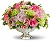 Teleflora's Garden Rhapsody Centerpiece in Columbus IN, Fisher's Flower Basket
