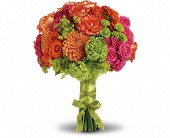 Bright Love Bouquet in Santa Claus IN, Evergreen Flowers & Decor