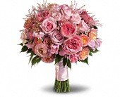 Pink Rose Garden Bouquet in Weymouth MA, Bra Wey Florist