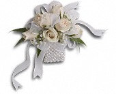 White Whisper Wristlet in Jefferson City, Missouri, Busch's Florist & Greenhouse