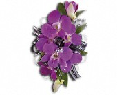 Purple Promise Wristlet in Glen Cove NY, Capobianco's Glen Street Florist