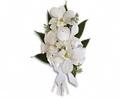 Graceful Orchids Corsage in Denton, Texas, Crickette's Flowers & Gifts