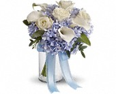 Love in Blue Bouquet in Belfast ME, Holmes Greenhouse & Florist Shop