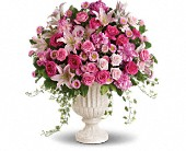 Passionate Pink Garden Arrangement in Belvidere, Illinois, Barr's Flowers & Greenhouse