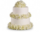 Sweet White Cake Decoration in Redondo Beach CA, BeMine Florist