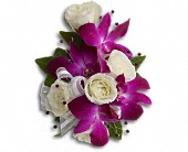 Fancy Orchids and Roses Wristlet in Noblesville IN, Adrienes Flowers & Gifts