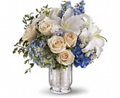 Teleflora's Seaside Centerpiece in Bellevue WA, Bellevue Crossroads Florist