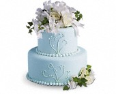 Sweet Pea and Roses Cake Decoration in San Francisco CA, Hoogasian Flowers