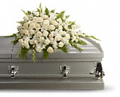 Silken Serenity Casket Spray in Dallas TX, In Bloom Flowers, Gifts and More