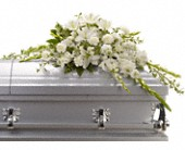 Bountiful Memories Casket Spray in Romulus MI, Romulus Flowers & Gifts