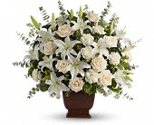 Teleflora's Loving Lilies and Roses Bouquet in Natick MA, Posies of Wellesley