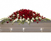 Garden of Grandeur Casket Spray in Campbell, California, Jeannettes Flowers