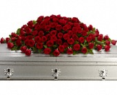 Greatest Love Casket Spray in Elkland PA, The Rainbow Rose