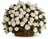 Bountiful Rose Basket in Gastonia NC, Fine And Fancy Flowers