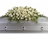 Purity and Peace Casket Spray in Miami FL, Creation Station Flowers & Gifts