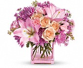 Teleflora's Possibly Pink in Miami FL, Brickell Ave. Flower & Gifts