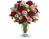Cupid's Creation with Red Roses by Teleflora in North Attleboro, Massachusetts, Nolan's Flowers & Gifts