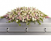 Always Adored Casket Spray in Kalamazoo MI, Ambati Flowers