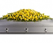 Golden Garden Casket Spray in Berkeley Heights NJ, Hall's Florist